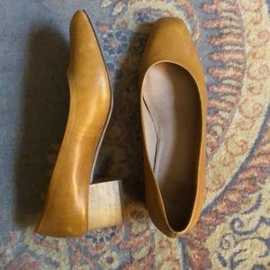Madewell 9.5 Raquel leather block heel